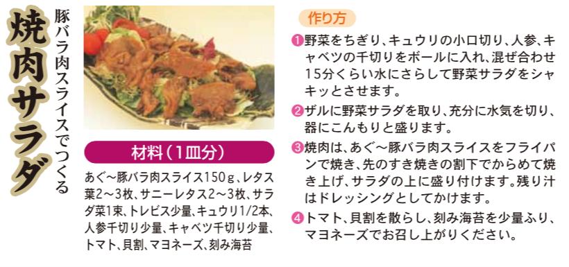 豚バラ肉スライスでつくる 焼肉サラダ